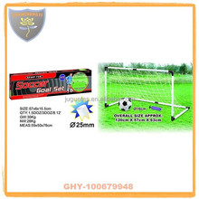 Low price plastic soccer goal with inflatable ball for boys
