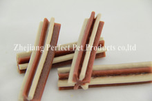 frozen pig ears (two-tone straight hexagonal natural dog chewing bone)