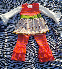 2014New arrival children's boutique clothes outfit kids fall winter bedroom set baby christmas boutique sets outfit