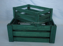 handmade custom dyed wooden sale food crate wholesale