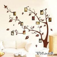 30pcs Fashion combination removable wall stickers photo memory tree sticker