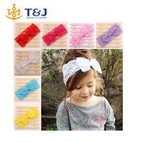 2015 new fashion cute soft Baby Girls Kids Lace Flower Headband/