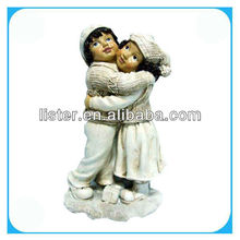 Chrismas Resin 2 Asst Decorative Boy And Girl Gift