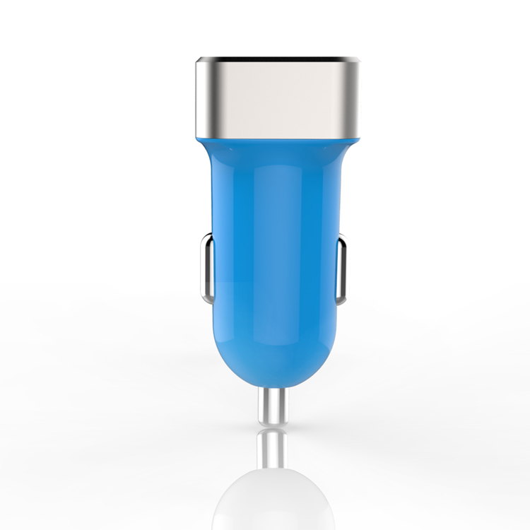 Promotional Dual USB Car Charger, for iphone 6 and samsung Portable USB Car Charger