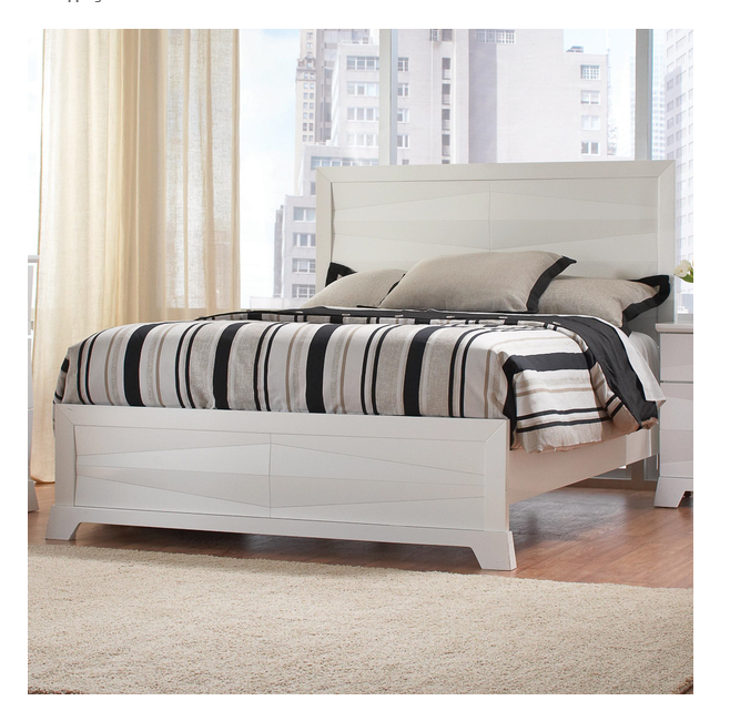 Modern Design Wooden Home Furniture White King Size