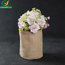 round jute basket storage box , raw jute flower basket