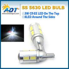 White Car T10 LED 8 SMD 5630 Wedge Light Bulb W5W 194 168 AC 12v 24v