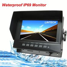 7 inch IP69 Waterpoof car monitor for short-wheel base truck