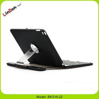 For iPad Air 2 bluetooth keyboard with 360 degree rotating foldable case