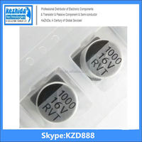 Capacitor Aluminium 1000UF 16V 20% SMD 235mA 7000Hours 10x10mm EEV-TG1C102UQ 105C (best price) UT KZD Series