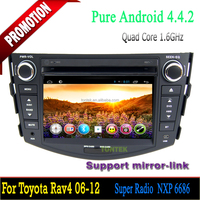 Quad core android car multimedia player for autoradio toyota rav4 with gps tv wifi 3G/4G SWC mirror link 2 year warranty