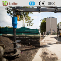 Earth hole digger soil auger drilling with adapter for excavator
