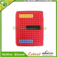 Blocks design computer silicone case