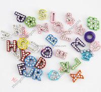 8mm rhinestone english letters for slide bracelets (JP08)