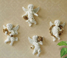 Three-dimensional living room European-style angel creative home decoration wall hangings resin craft 15-118