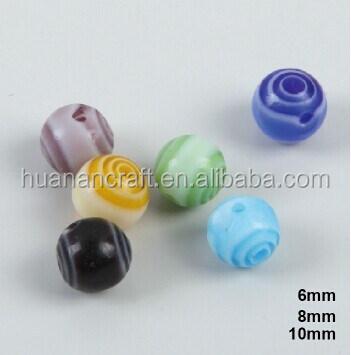HUANAN multi color murano 6mm 8mm 10mm contas do rosário para fazer