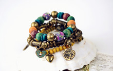 hot new products for 2015 bohemia wood bead bracelets