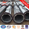 polygonal or conicla medium voltage round tapered steel poles for transmission line