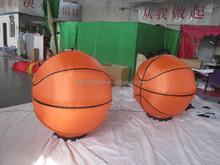 hot sales printed led inflatable giant basketball for decoration