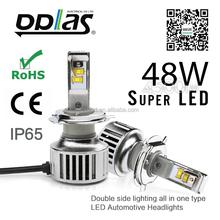LED headlight H4 power auto led bulk led lighting 3 color new high bright H1 H3 H7 H8 H11 H16 9005 9006 880 881 PSX24W PSX26W