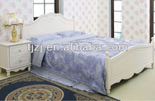 Silky Soft Solid Microfiber Luxury 3-Piece Duvet Cover Set, Includes Pillow Shams-Full/Queen,Blue gray