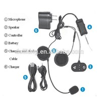 Bicycle Intercom Headset Motorcycle Helmet To Helmet for MP3 with 3.5mm Audio Jack