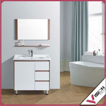 mini storage free standing modern bathroom cabinet/vanity with single sink