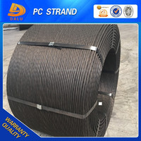 7 wire 21.8mm 28.6mm pc steel strand wire for coal mine
