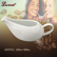 porcelain plain white coffee sugar creamer water pot for hotel