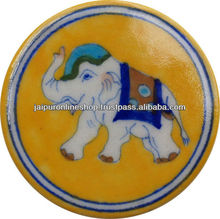 Manufacturer and Exporter Blue pottery Coaster