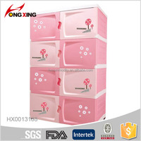 4layer Plastic Drawer Storage Cabinets with Wheel