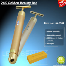 24K golden plated skin care personal massager