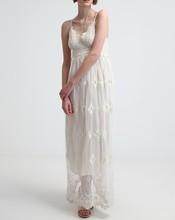 Custom design beautiful lady chiffon maxi dress white lace elie saab evening dress