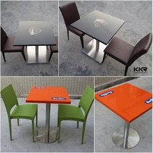 table with logo, high quality solid surface dinning table