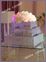 Gorgeous tiered crystal wedding cake stand for Large simulation wedding cake
