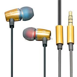2015 Shenzhen factory fast delivery good quality metal earphone Fashion