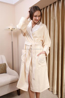 unisex double layer with cotton lining bathrobe for hotel use
