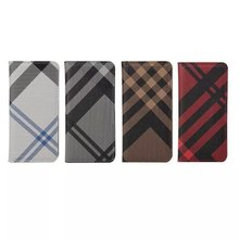 for iPod touch 6 grid pattern case ,for touch 6 pu leather flip case stand