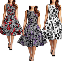 DY0003A 50s dresses vintage style design womens retro clothes rockabilly 1950s dress