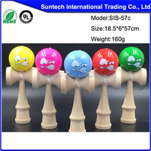 Wooden toy five cups kendama toys sword ball puzzle toys ball multi color optional