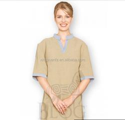 Newest 100% cotton beauty salon and spa uniform custom spa uniform