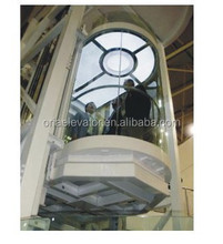 ORIA modern design glass commercial elevators/tourist elevators/elevator glass round