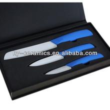 White Blade Japanese ceramic santoku knife set