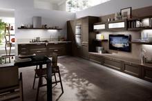 high gloss pvc door luxury kitchen furniture with high quality magic corner