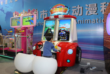 2015wholesale happy driving entertainment racing Lottery ticket out arcade initial d indoor video game making machine
