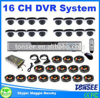Tonsee new 16 ch DVR security system,cctv board camera pcb,16ch ahd dvr