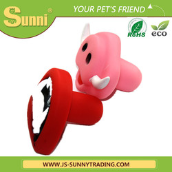 New design lovely soft rubber dog toy for training