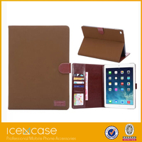Cowboy Jeans Cloth Canvas Stand Flip Leather Case For iPad air 2,Retina with Hand Strap