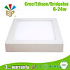4MM Silk Printing LGP New Pushing Type Bracket Ceiling Surface Mounted LED Panel Light 600x600 24W 1920LM Silver Frame