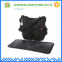 New product black 600D polyester backpack diaper bag